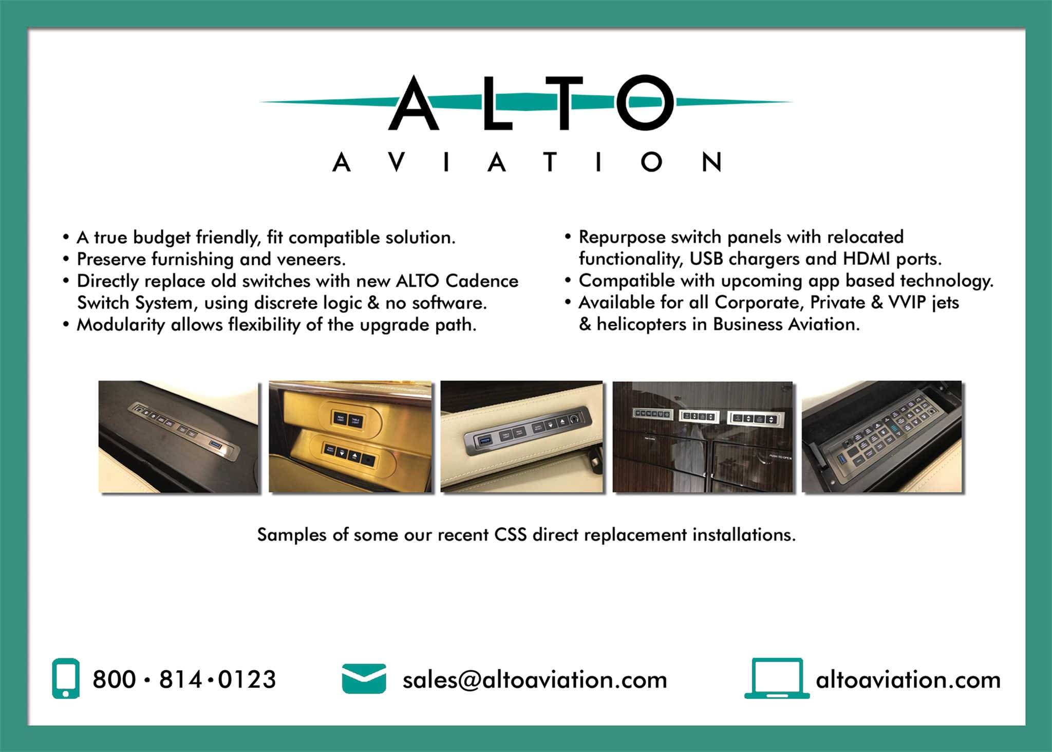Alto Aviation CSS direct replacement installations