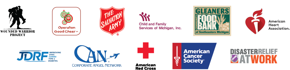 Logos for organizations we have supported over the last 24 months