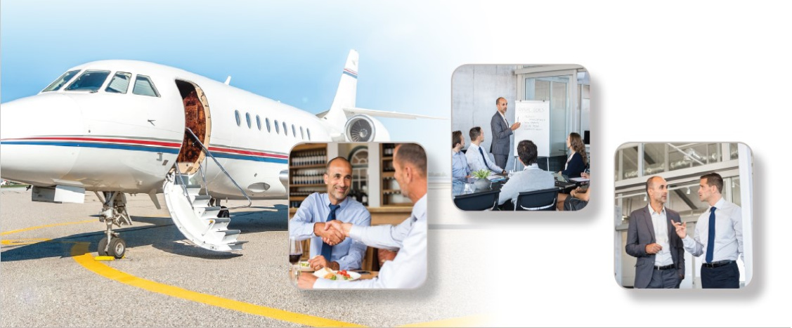 Charter aircraft for business meetings