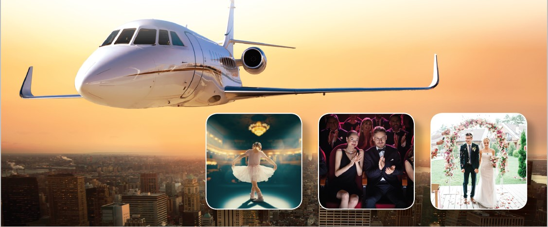 Charter aircraft to never miss a moment