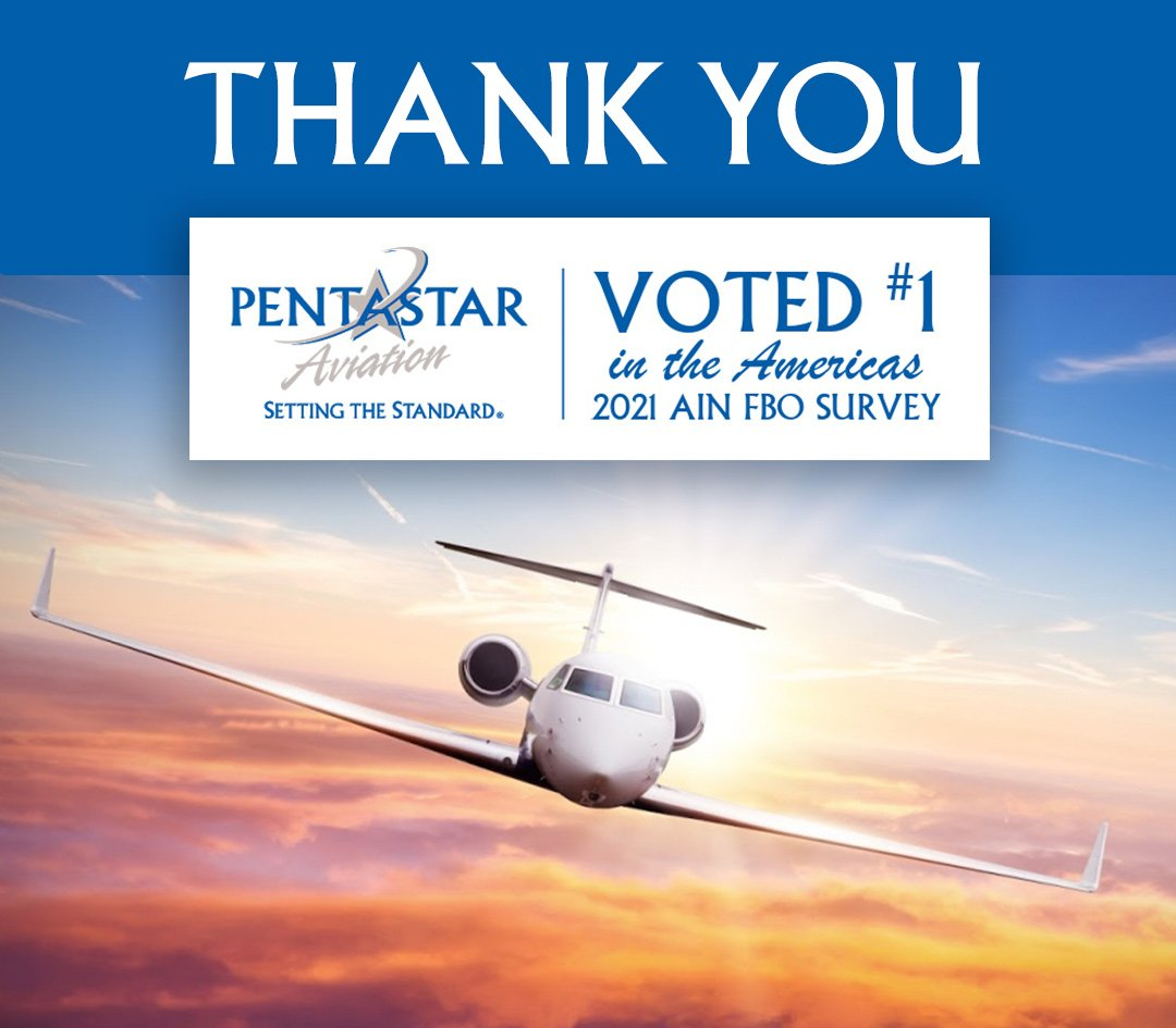 Thank you! Voted #1 in the Americas 2021 AIN FBO Survey