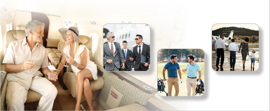 Charter aircraft for vacationing