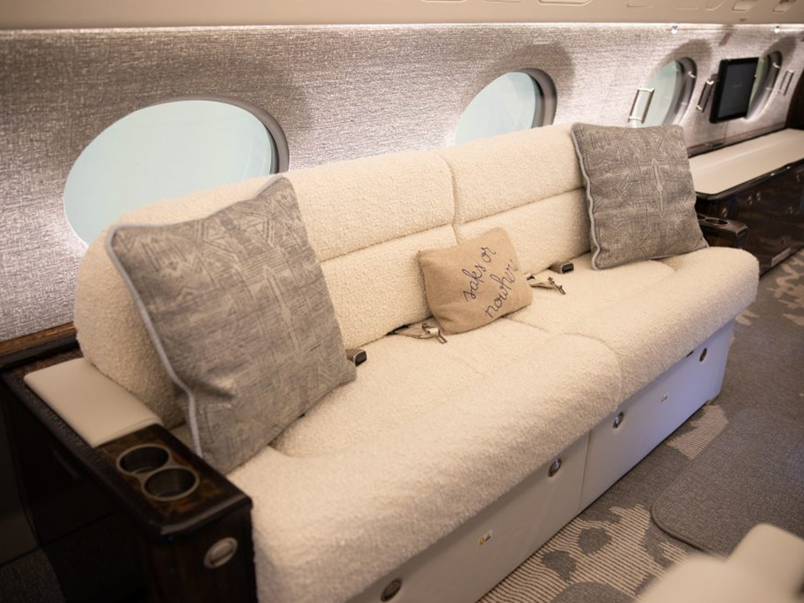 private aircraft couch