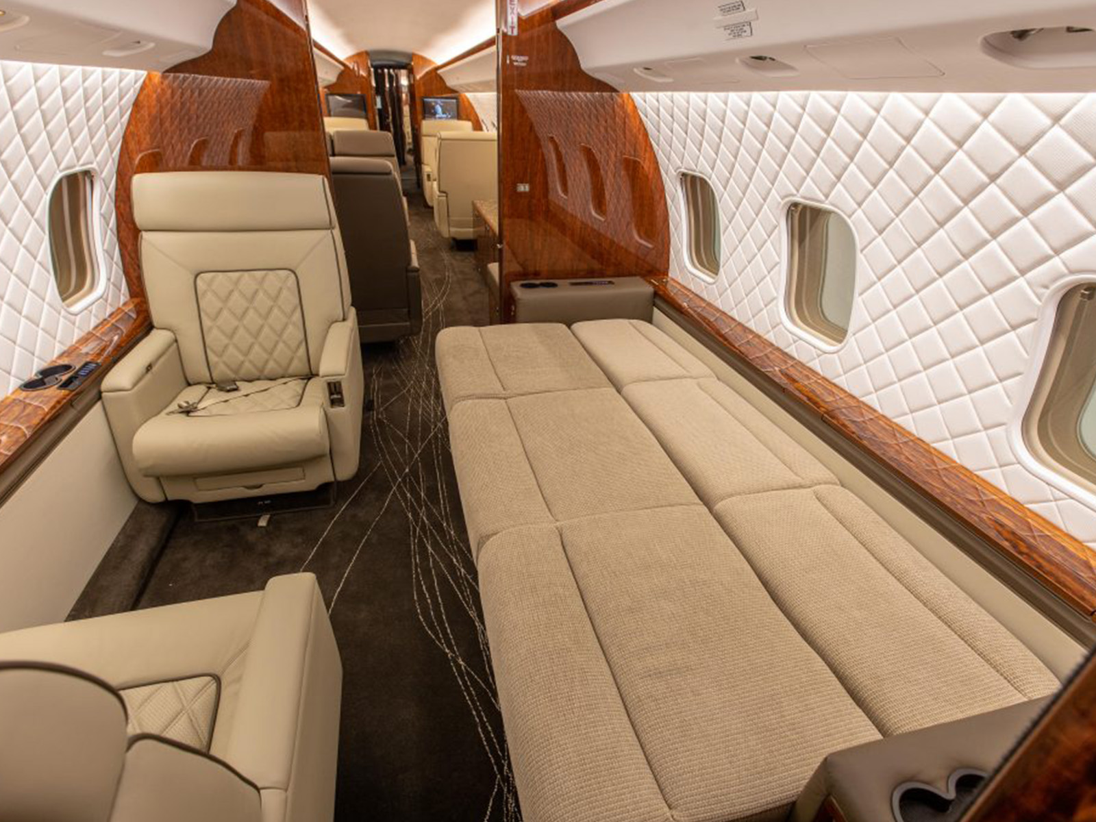 aircraft couch and chair upholstery